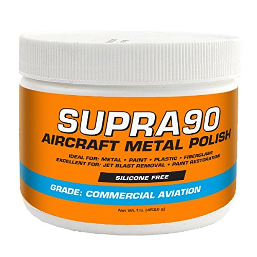 Boeing Commercial Airplanes - Supra90 Aircraft Metal Polish (1lb) for Airplane Painted Surfaces - Removes Jet Blast & Fuel Stains, Meets Boeing and Airbus Requirements