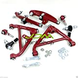 IspeedyTech 6PCS Front+Rear Adjustable Lower Control Arms Tension Rod For Nissan 240SX S13/S14 180SX JDM 300ZX 1989-1998 Front Rear Control Arm