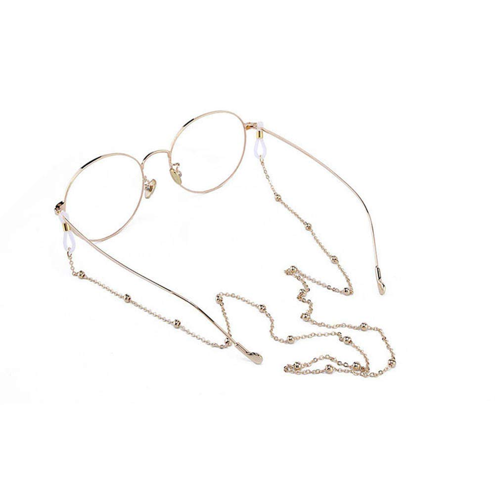 Hacoly Sonnenbrille Lanyard Gl/äser Kordel Lanyard Gl/äser Kette Eyewear Retainer F/ür Frauen Gl/äser Kordeln Gl/äser Lanyards Eyewear Retainer Outdoor-Sportbrillenhalter Gold