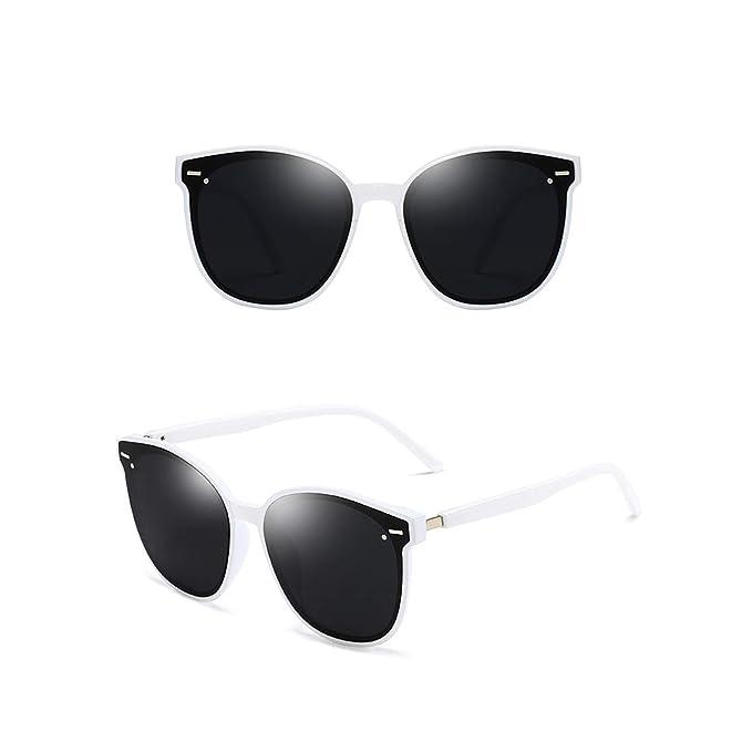 ANAZOZ Gafas de Sol Lente Blanco Gris Gafas Sol Mujer UV400 ...