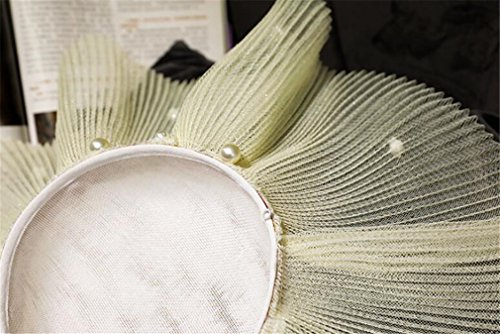 Court De Diadema blanco Styling He Cocktail Mujeres Party shop Fascinator Pelo Retro Elegante Hat Pinza vngqfxZ