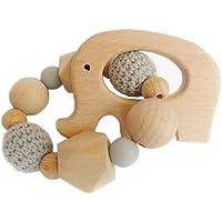 Mordedera de madera en forma de elefante color gris - PEONI MILOU/regalo para bebé/niño/niña/baby shower/nacimiento/bautizo