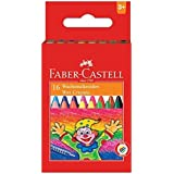Faber-Castell Wax Crayon Set - 75mm, Pack of 16 (Assorted)