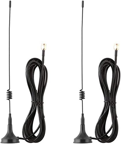 Anlink 2 Pack 10ft 7dBi Dual Band WiFi Antenna Extension Cable with Magnetic Base for IP Wireless Security Camera and CCTV Wireless Camera System