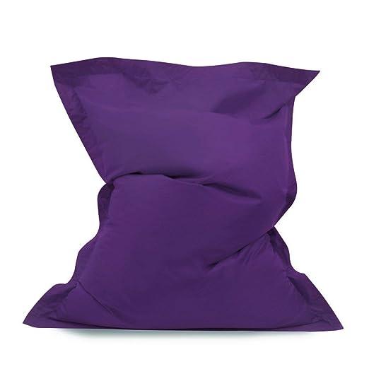 Bean Bag Bazaar - Puf Gigante (Tejido Resistente al Agua, se Limpia con un paño, para Interiores y Exteriores, Poliuretano)
