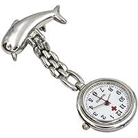 HEMOBLLO Reloj de Bolsillo Enfermera Reloj Steampunk Delfín