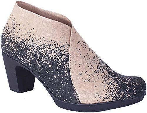 Helle Fashion Comfort Donna Stivaletto Alla Caviglia Superiore Elasticizzata Beige