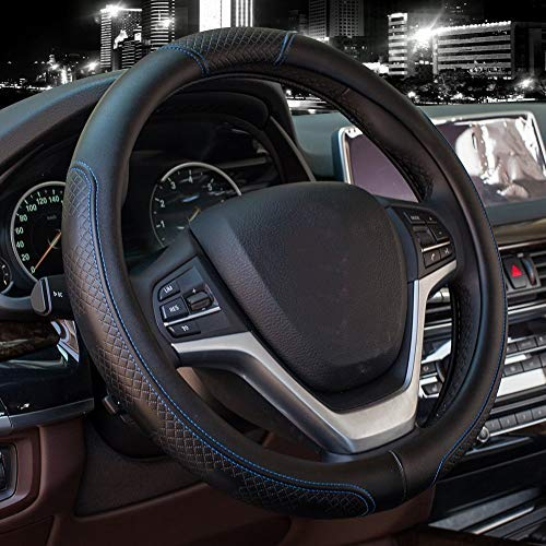 Leather Steering Wheel Cover - 5