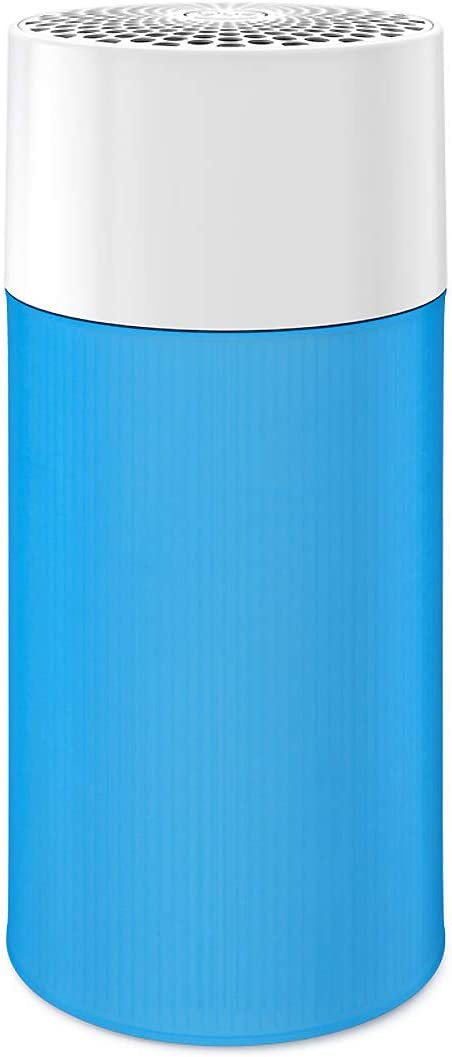 Blueair Air Purifier with Washable Pre-Filter, Air Cleaner for Small Room, HEPASilent Technology, Quiet Filtration System, Removes Smoke, Dust, Pet Hair, Pure 411, Blue