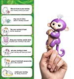 SHRAGIS Finger Monkey USB Rechargeable Battery Interactive Smart Toy - Responds with Sound, Movement and Touch with Animations and Sound Effects - Features Flexible Grip Arms - Premium Quality