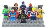 8pcs/lot New Hot Super Heroes Avenger Kid Baby Toy Mini Figure Building Blocks Sets Model Toys Minifigures Brick