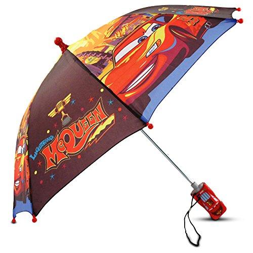 Disney Little Boys Cars Lightning McQueen Umbrella, Multi-Color, One Size