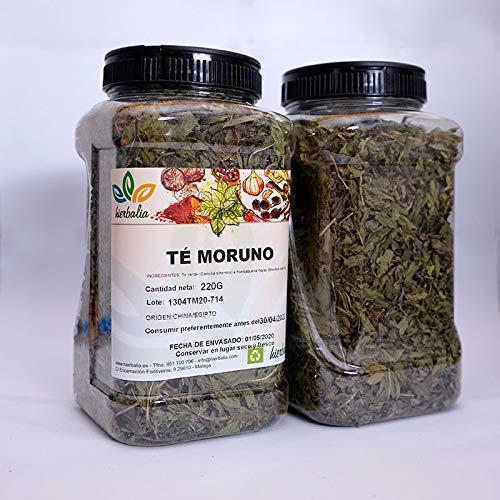 Te Moruno HIERBALIA | Deliciosa mezcla de te verde gunpowder y hojas de hierbabuena seca | Varios formatos (Bolsa 1 K