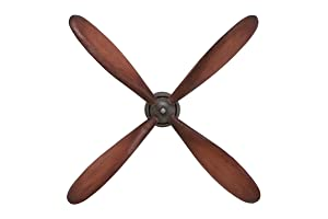 "Deco 79 51675 Propeller Wall Decor Metallic Tone Makes It Look Original, 32"" H x 32"" L, Polished Brown Finish"