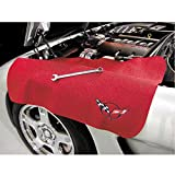 Corvette Fender Mat with C5 Logo : Black or Red (Red)