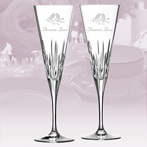Personalized Vera Wang Wedgwood Duchesse Toasting Flute Pair