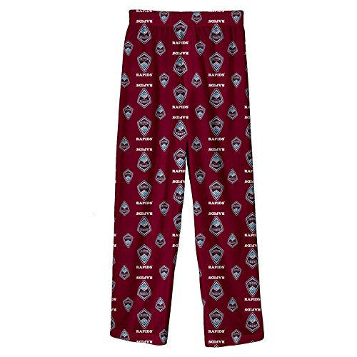 fan products of MLS Colorado Rapids Boys All Over Team Logo Sleepwear Printed Pants, Burgundy, Small (8)