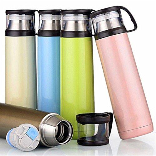 Beautifullight Portable 500ML Stainless Steel Travel Mug Cof