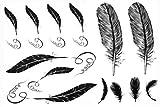 SPESTYLE waterproof non-toxic temporary tattoo stickerslatest new design Men and women waterproof temp tattoos feather fake tattoo by SPESTYLE