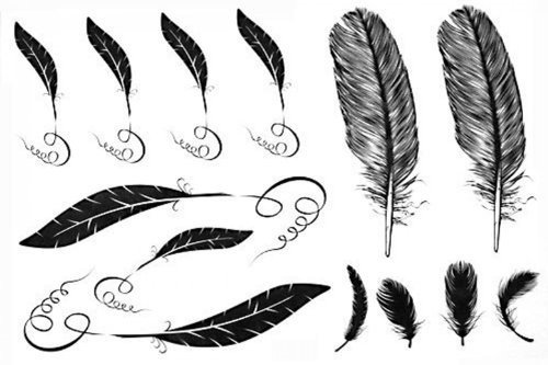 SPESTYLE waterproof non-toxic temporary tattoo stickerslatest new design Men and women waterproof temp tattoos feather fake tattoo by SPESTYLE