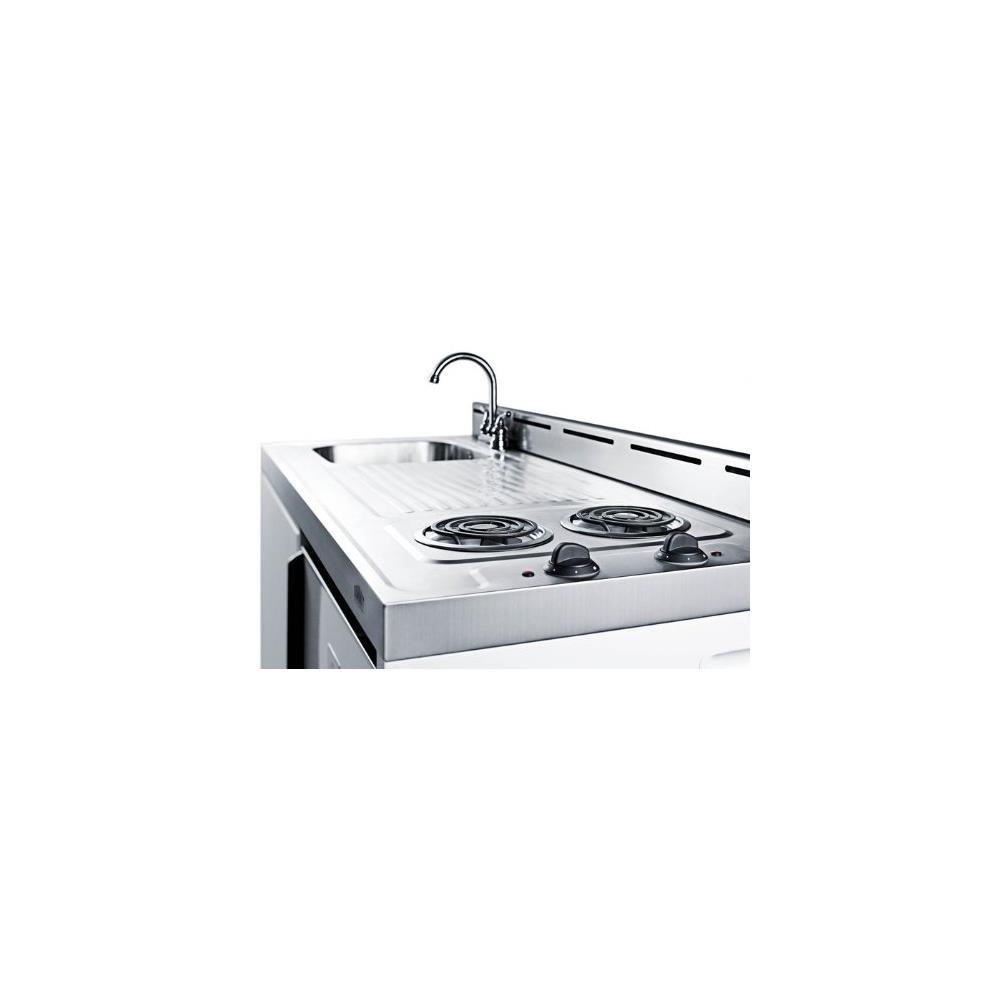 Amazon.com: Summit C48EL Kitchen All in One Combination Unit, White ...