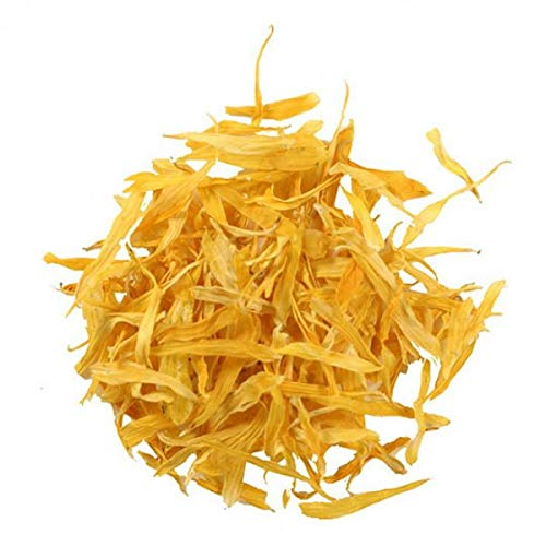 MCHEF Edible Yellow Calendula Petals from Egypt, Organic Kosher Non GMO Gluten Free Herbs and Spices, Dried.