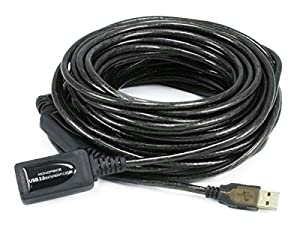 Monoprice 49ft 15M USB 2.0 A Male to A Female Active Extension / Repeater Cable (Kinect & PS3 Move Compatible Extension)