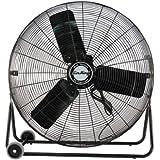 Air King 9224 24-Inch Industrial Grade High Velocity Pivoting Floor Fan, Black Finish