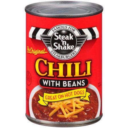 Steak N Shake Original Chili With Beans 15 Oz (Pack of 2)