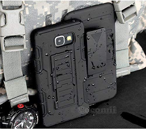 Cocomii Robot Armor Galaxy A7 2016 Case New [Heavy Duty] Premium Belt Clip Holster Kickstand Shockproof Bumper [Military Defender] Full Body Rugged Cover for Samsung Galaxy A7 2016 (R.Black)