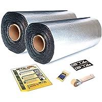 16 SQFT GTMat Supreme 4 Rolls of 110mil 18x32 Car Sound Deadener Self Adhesive Peel & Stick Aluminum Barrier Noise Dampener