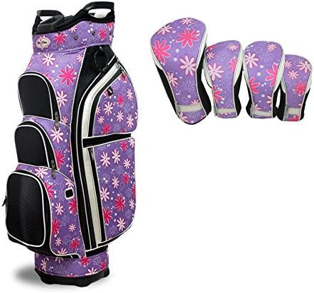 Taboo Fashions Allure Lightweight Carry Cart Bag Bundle with Club Covers