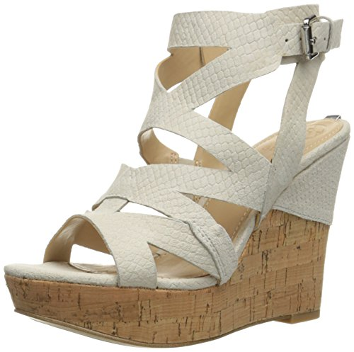 Women's Hannele Sandal White Wedge GUESS OdTxHUdq
