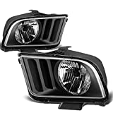 Ford Mustang OE Replacement Headlight Lamps Kit (Black Housing) - Pony 5th Gen