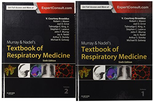 Product picture for Murray & Nadels Textbook of Respiratory Medicine, 2-Volume Set, 6e (Murray and Nadels Textbook of Respiratory Medicine) by V.Courtney Broaddus MD