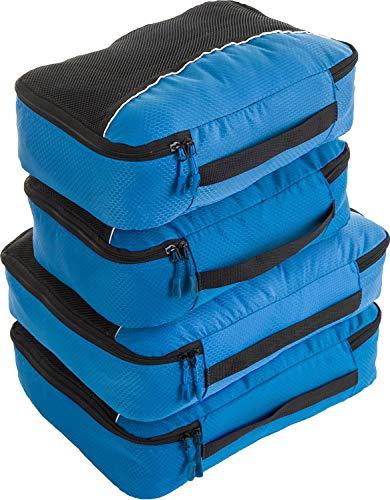 bago 4 Set Packing Cubes for Travel - Luggage & Suitcase Organizer - Cube Set (2Large+2Medium, BlueTale)