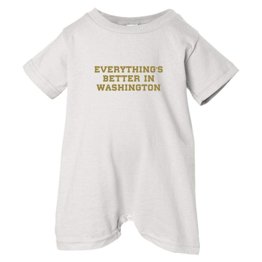 Mashed Clothing Unisex Baby Everythings Better Washington T-Shirt Romper