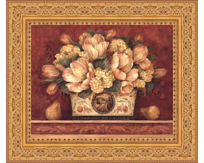 895c3876c86 Image Unavailable. Image not available for. Color  Framed Tulip Tapestry-  10x8 Inches - Art Print (Ornate Gold Frame)