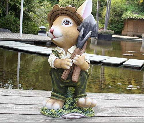Diseño 4 conejito enano 91102-4 XXL 45 cm de alto deco gnome jardín estatuillas decoración varios diseño: Amazon.es: Jardín