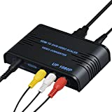 HDMI to AV & S-Video Converter, HDMI to CVBS Composite Adapter, Support 1080P with RCA/S-video Cable for PC Xbox PS3 TV STB VHS VCR Blue-Ray (HDMI to S-video)