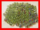 GREEN FABWOOD 200 Pieces Cats Eyes Glass Marble / Sling Shot Ammo