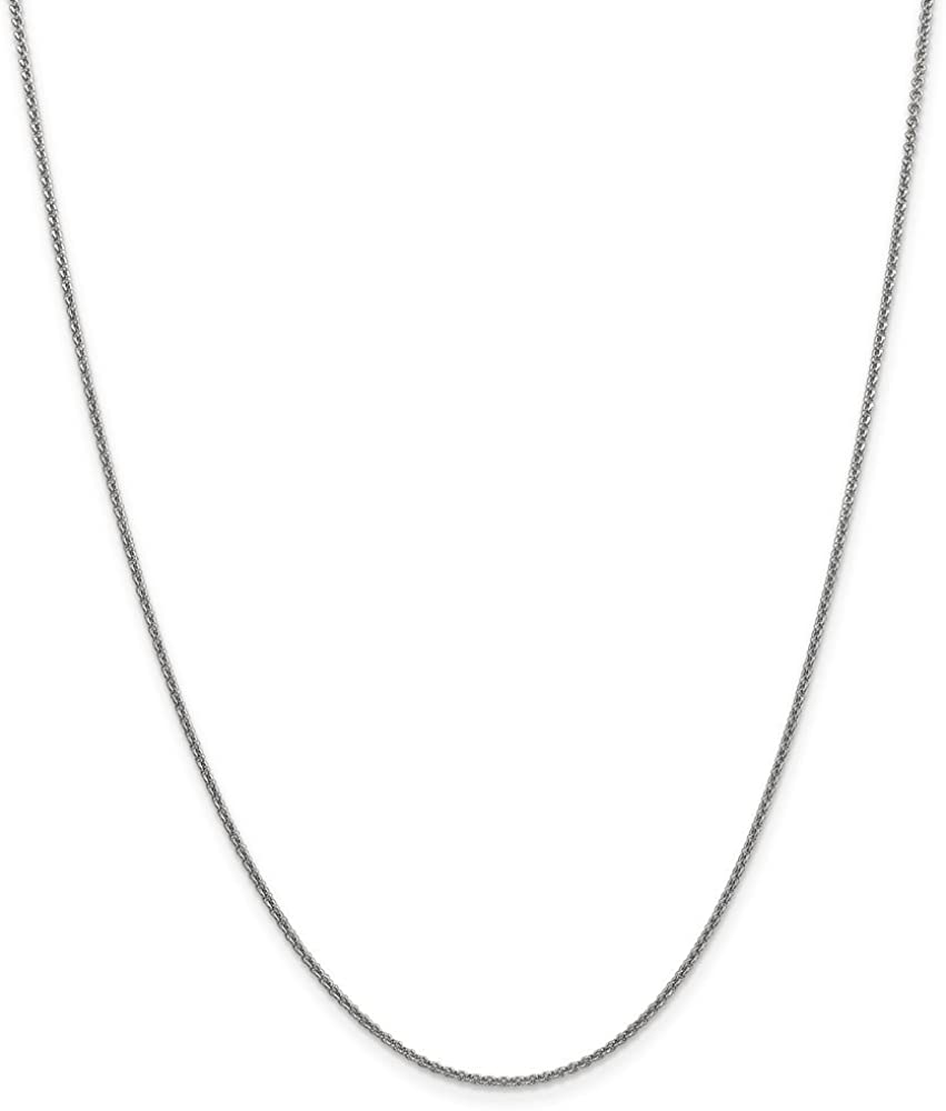 10k WG 1.5mm Solid Polished Cable Chain Length 16 Width 1.5
