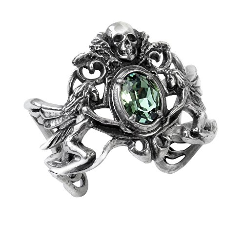 Costume accessories Gothic Bracelet Essence Of The Green Fairy Absinthe Skull Faced Bangle Of Gothic (Absinthe Fairy Halloween Costume)