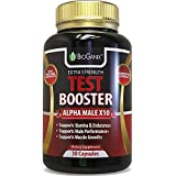BioGanix Testosterone Booster Supplement - Alpha Male Max Potency Natural Test Booster Pills For Men - Fenugreek, Tribulus Terrestris, Maca Root, Tongkat Ali - Aids Stamina, Performance & Muscle Mass