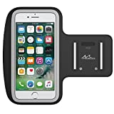 "MoKo Armband for iPhone 7 Plus / 6s Plus / 6 Plus, Sweatproof Sports Armband Running Arm Band for iPhone 7 Plus, 6S Plus, Samsung S8 Plus, S7 Edge, Note 4 / 5, Black (Fits Arm Girth 9""-12.6"")"