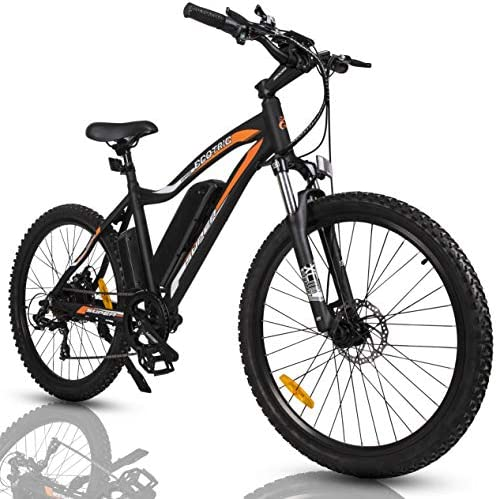 ECOTRIC Mountain EBike Electric Bicycle Bike 26″ Alloy Frame with 500W Powerful Motor 36V/13Ah Lithium Suspension Fork (Black)