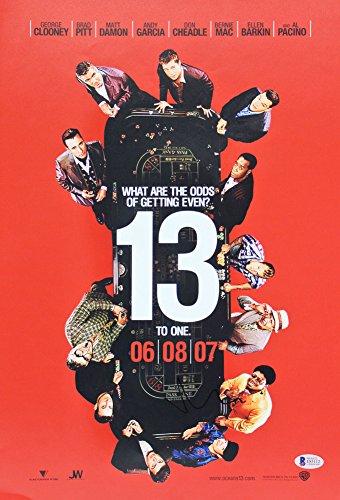 Matt Damon Ocean's 13 Certified Signed Autographed 12X18 Mini Movie Poster Bas #E85112 - Certified Certified
