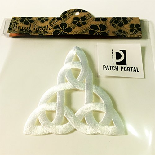 Patch Portal White Celtic Knot 3