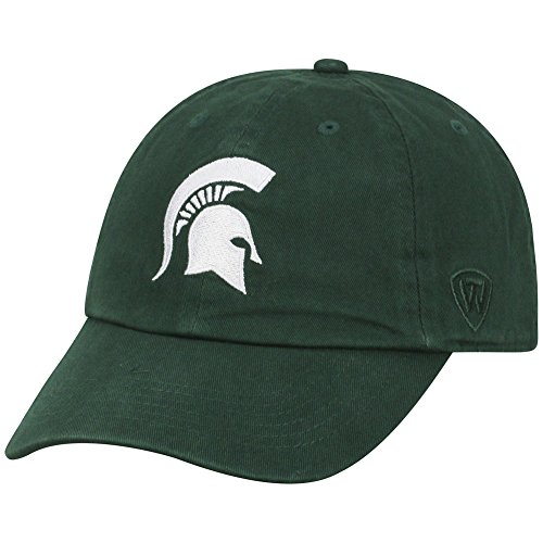 NCAA Michigan State Spartans Elite Fan Shop Kids Adjustable Relaxed Fit Team Hat, Dark Green