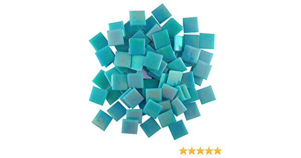 Jennifers Mosaics White 3//4-Inch Iridized Venetian Style Glass Mosaic Tile T299 8 OZ 8-Ounce